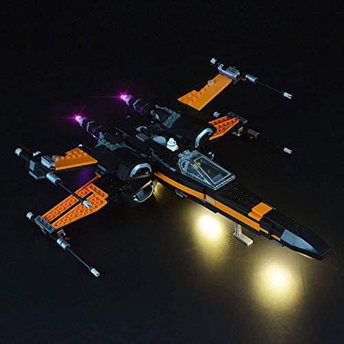 ADMLZQQ Lichtset für (Star Wars Poes X-Wing Fighter) Bausteine Modell - LED-Lichtset Kompatibel mit Lego...