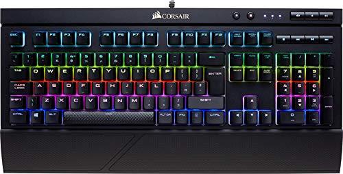 Corsair K68 RGB - Teclado mecánico Gaming (retroiluminación multicolor RGB, resistente al polvo y a las salpicaduras), Cherry MX Rojo (Suave y rápido) - [QWERTY Español]