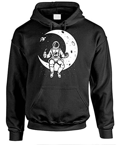 LAUNCH BREAK - astronaut nasa moon space - Mens Pullover Hoodie, L, Black