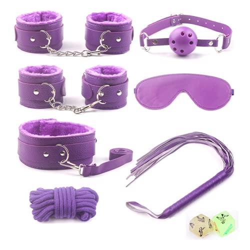 7 stks/schattige paarse lederen ontwerp set pluche speelgoed