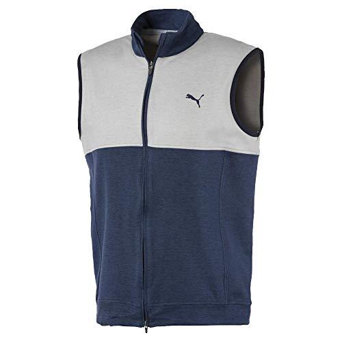 PUMA Golf 2020 Men's Cloudspun Vest, Peacoat White, Medium