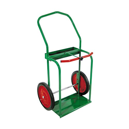 """Anthony 85-14 High-Rail Frame Dual-Cylinder Cart, for 9.5"""" Cylinders, 14"""" Solid Rubber Wheels"""