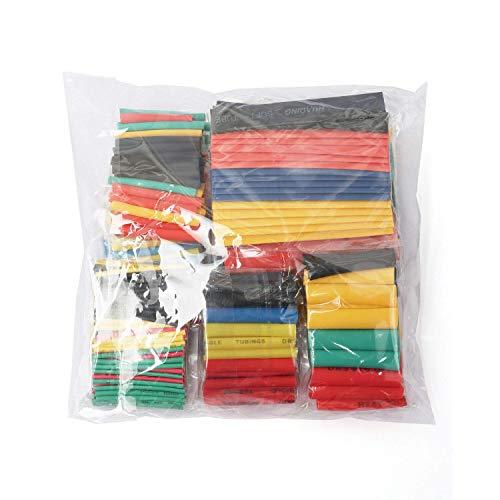 164-teiliges Schrumpfschlauch-Set 2:1, elektrische Isolierung, Schrumpfschlauch, Kabelmanschette, 5 Farben in 8 Größen