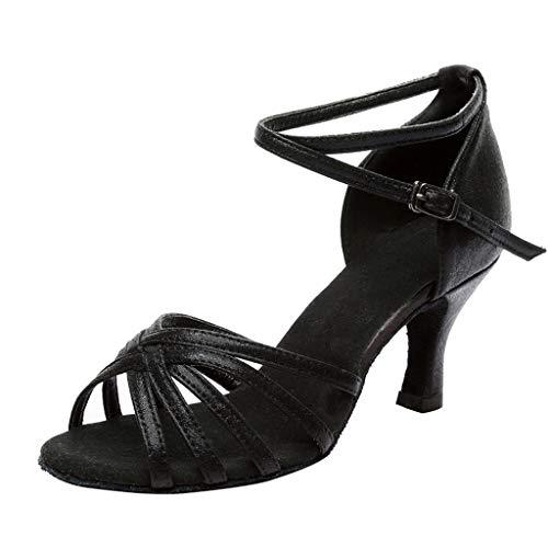 POLP Sandalias de Vestir Mujer de Danza Zapatos Tacón Bajo