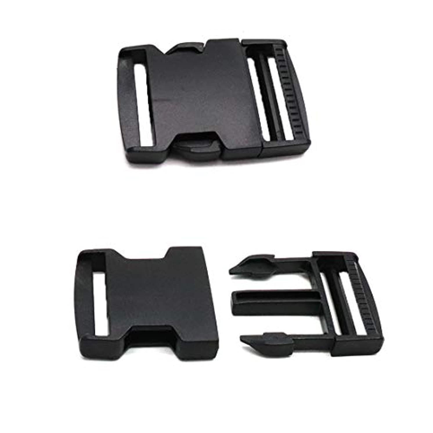 ZXHAO Black Plastic Safety Quick Release Buckles Fit Strap Width 3.2cm/0.13 inch for Luggage Straps,Backpack Repairing 20pcs