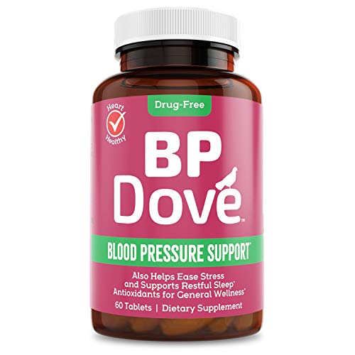 BP Dove – Brings Whole-Body Calming to Support Normal Blood Pressure + Stress Relief + Sleep Aid, A New Approach Based on 600+ Research Studies – Once Daily Supplement in The Evening