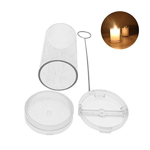 Auker - Kit de fabricación de Velas para Hacer Velas, moldes para Hacer Velas cilíndricas, Material Reutilizable, Incluye Varilla para Velas, Soporte para mechas, Molde para Velas, 4 tamaños