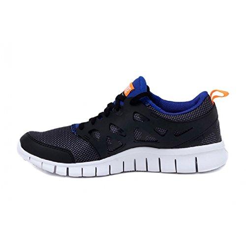 Nike Free Run 2 (GS) Laufschuhe black-white-total orange-game royal - 36