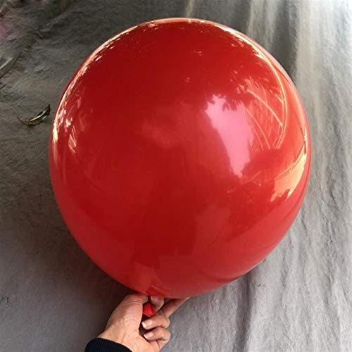 JSJJARD Luftballons 1pc / 5pcs Dicker 18-Zoll-Latexballon übergroße Vier-Ecken-Veranstaltung rund um große Ballons Hochzeitsdekoration Geburtstagsparty (Ballon Size : Red 1, Color : 4)