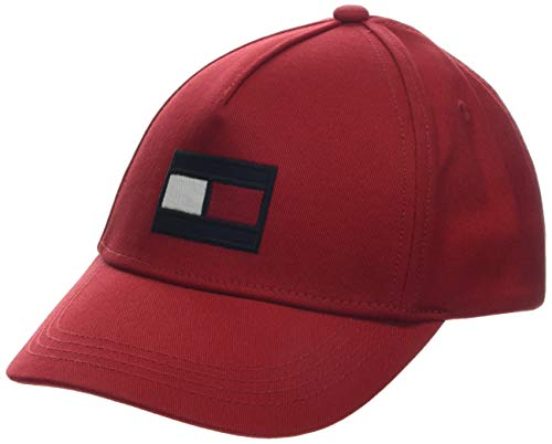 Tommy Hilfiger Big Flag Cap, Gorra Bebé-Niños, Rojo (Apple Red 664), Large (Talla del Fabricante: L-XL)