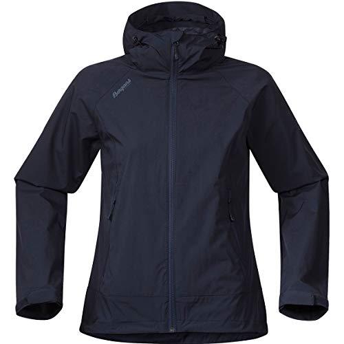 Bergans Microlight Lady Jacket Blau, Damen Softshelljacke, Größe XS - Farbe Dark Blue - Dark Steel Blue