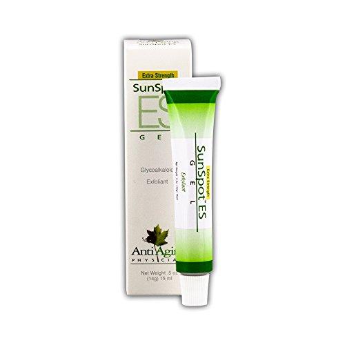 Lane Innovative - SunSpot ES, Natural Exfoliating Gel, Skin Rejuvenating Ingredients, Including Aloe Vera and Tea Tree Oil (0.5 Ounce)