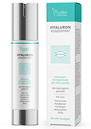 Hyaluronsäure Serum hochdosiert - Testsieger 2021 - Natürliche Hyaluron Anti-Aging Creme für das Gesicht - 50ml von colibri cosmetics - Naturkosmetik Made in Germany