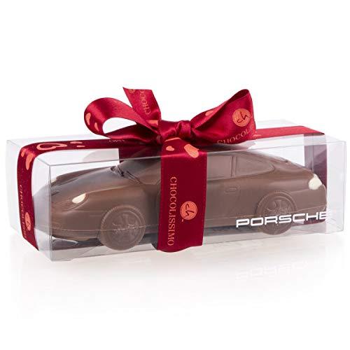 Porsche 911 Carrera - Valentinstag - Auto aus Vollmilchschokolade | Geschenk für Autoliebhaber | Kinder | Erwachsene | lustige Geschenkidee | Mann | Frau | Vatertag | Geburtstag | Liebe | Männer