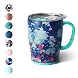 Swig Life 18oz Triple Insulated Travel Mug with Handle and Lid, Dishwasher Safe, Double Wall, and Vacuum Sealed Stainless Steel Coffee Mug in our Artist Speckle Pattern (Multiple Patterns Available)