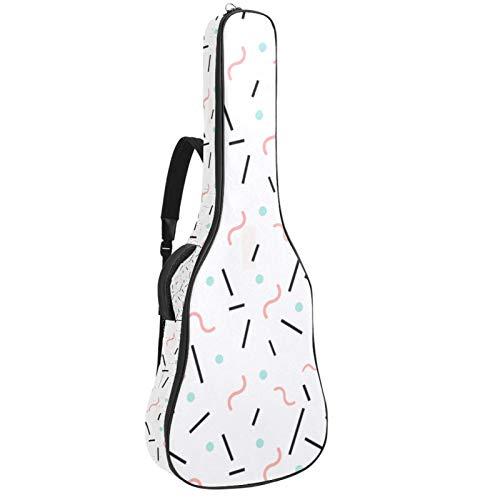 Bolsa para guitarra impermeable con cremallera, suave para guitarra, bajo, acústico y...