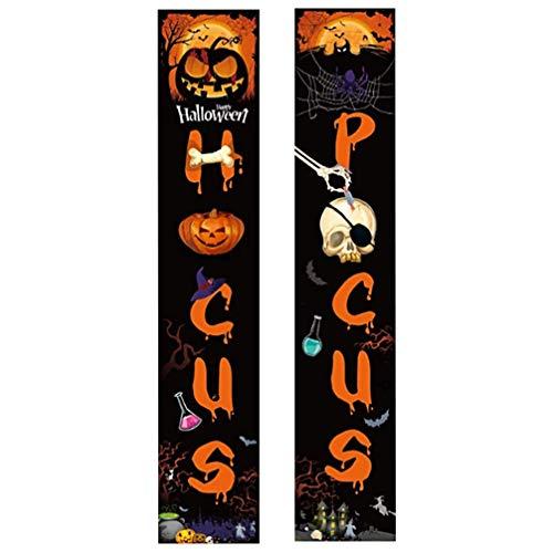 STOBOK Halloween Veranda Zeichen Kürbis Haustür Zeichen Banner Innen Wohnkultur Halloween Willkommensschilder