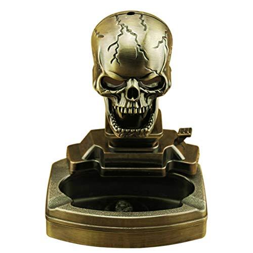 Skull Shape Cigarette Ashtray Household Ashtray with Cigar Lighter