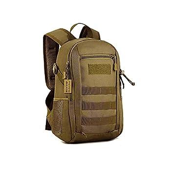 Huntvp 10L Mini Daypack Military MOLLE Backpack Rucksack Gear Tactical Assault Pack Bag for Hunting Camping Trekking Travel