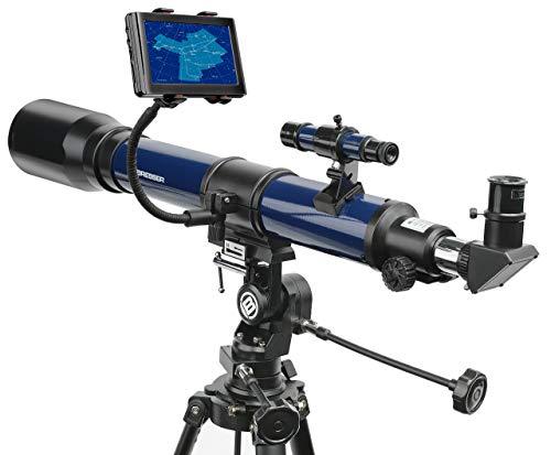 Bresser Skylux - Telescopio con Soporte para Smartphone y Filtro Solar (70/700 mm)