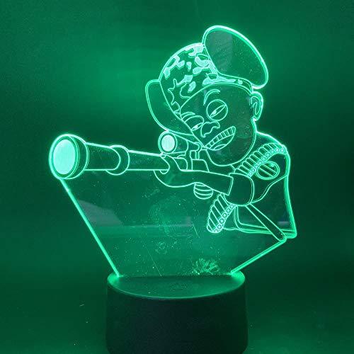 SHJDY tafelloper met nachtlampje, 7 kleuren, 3D-slaapplicht, flash led, stroomvoorziening etc, afstandsbediening, geschikt voor decoratie van Della Stanza, kerstcadeau