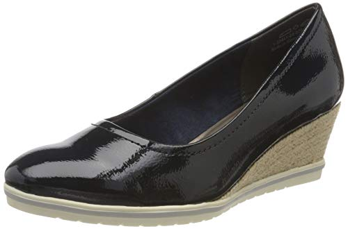 Tamaris Damen 1-1-22441-24 Pumps, Blau (Navy Patent 826), 37 EU