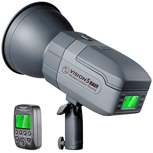 Neewer Vision5 400W TTL Flash per Nikon Progettato da Germania con Attacco Bowens, HSS Strobo da Studio Outdoor con Sistema 2,4G Wireless Trigger, 1 Batteria a Litio (500 Lampi Flash a Potenza Piena)