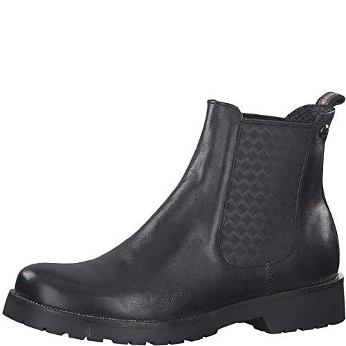 s.Oliver Damen Stiefeletten 25430-25, Frauen Chelsea Boots, Woman Freizeit leger Stiefel halbstiefel Bootie Schlupfstiefel flach,Black,41 EU / 7.5 UK