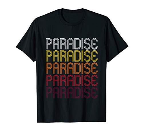 Paradise, ca   Vintage Stil California T-Shirt