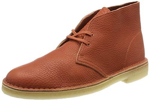 Clarks Herren Desert Boot Kurzschaft Klassische Stiefel, Braun (Burnt Orange Lea Burnt Orange Lea), 44 EU