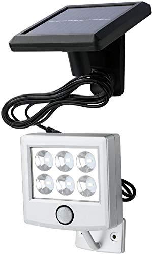 Livarno Lux LED Solar Schijnwerper - Met Bewegingssensor - Werkt op Zonne-Energie Met Zonnepaneel - 6 LED Lampen - Automatisch via bewegingsmelder - Weerbestendig en Waterbestendig - Met 250CM Aansluitkabel - Veiligheidslamp - Buitenverlichting