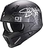 Scorpion CASCO COVERT-X XBORG MATT BLACK-SILVER M