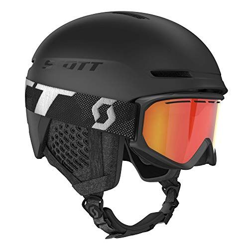 Scott Junior Track Helmet + Fact Goggle Combo Schwarz, Kinder Skibrille, Größe L - Farbe Black