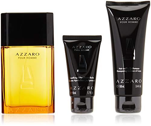 Azzaro Pour Homme, Eau de Toilette 100 ml, Hair & Body Shampoo 100 ml, After Shave 50 ml