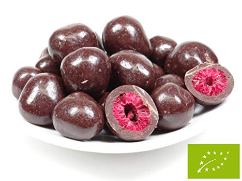 pikantum Bio Himbeeren in Zartbitter-Schokolade   1kg   schokoladig-fruchtig   ohne Zusätze   vegan