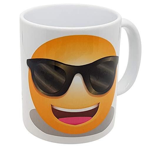 Kalfa Tasse Geschenk für den Ruhestand, mit Emoticon, Sonnenbrille (Vive Le Rentité)