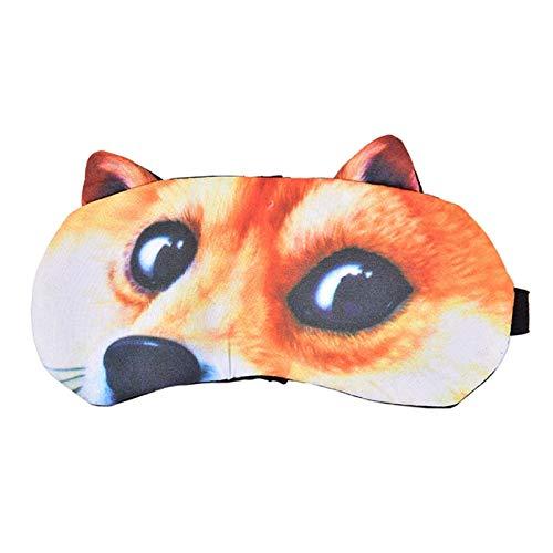 Venda de los Ojos, máscara Precioso Gato y Perro durmiendo máscara de Ojos, for su sueño Natural, el Cuidado de los Ojos, la Vida Sana (Color : 7)