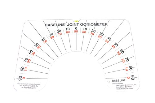 Baseline - fab-12-1076 Large Joint Arthrodial Protractor Goniometer to Measure Joint Limits, Range Of Motion, Cervical Rotation, Lateral Flexion and Anterior-Posterior Cervical Flexion in Active / Passive Movement