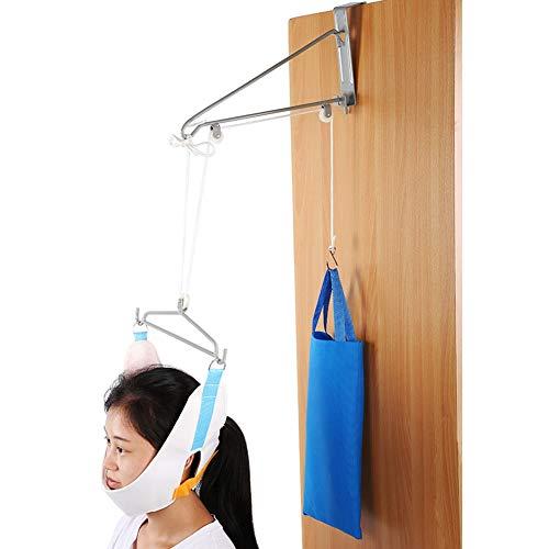 Kit de Tracción Cervical, Kit Completo de Tracción Cervical, Dispositivo de Tracción Cervical de Tamaño Ajustable Alivio de Cuello Hamaca Sistema de Tracción Cervical para Hombres para ✅