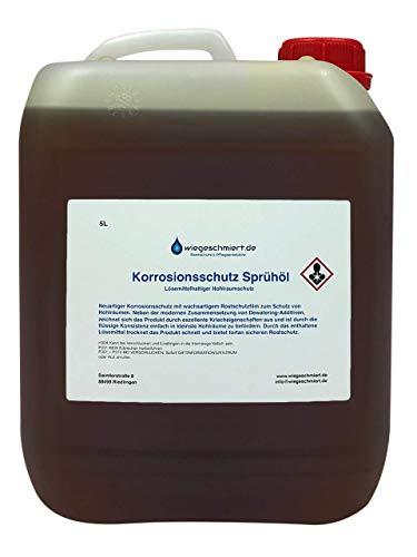 Knaus Schmierstoffe 5 Liter Korrosionsschutz Sprühöl | Hohlraumschutz Konservierungsöl lösemittelhaltig, 5L Kanister