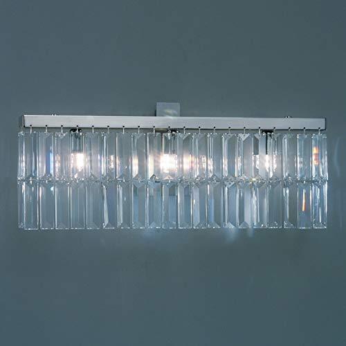 Kolarz PRISMA - Lámpara de pared de cristal de diseñador, cromo pulido, 3x G9