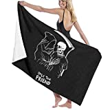 """Grim Reaper Only True Friend Men and Women Funny Home Life Bath Towel Microfiber Polyester 31.5"""" X 51.2"""" Absorbent Personalized Towel Fit Bathroom,Beach, Kids,Child"""