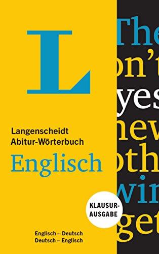 Langenscheidt Abitur-Wörterbuch Englisch: Englisch-Deutsch/Englisch-Deutsch
