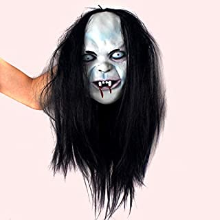 Goodjobb Cosplay The Grudge Halloween Mask Ghost Fancy Party Costume Scary Dress Props
