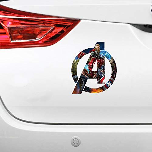 Adesivi di design per auto, stile Avengers Comics, supereroi, Jdm, adesivi decorativi per finestrini auto, 12 x 13 cm, 2 pezzi