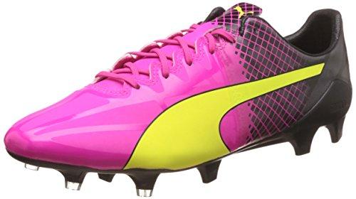 PUMA Evospeed 1.5 Tricks FG, Herren Fußballschuhe, Pink (pink glo-Safety Yellow-Black 01), 45 EU (10.5 Herren UK)
