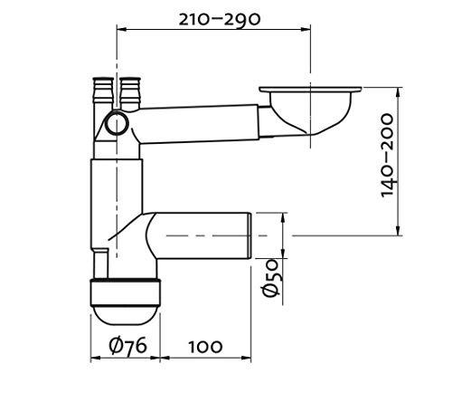 Spülen Sifon Siebkorbventil Teleskop Siphon Geruchsverschluss flaschensifon HR7
