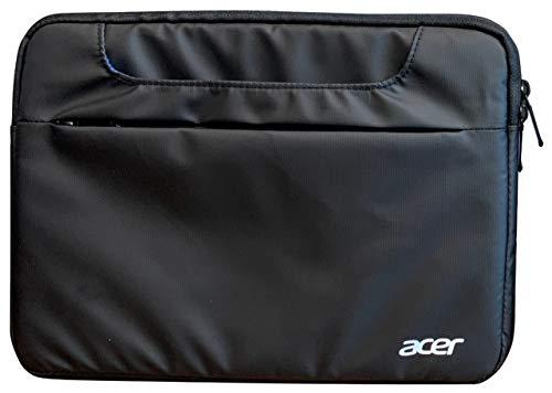 Acer Multi Pocket Sleeve (geeignet für bis zu 14 Zoll Notebooks: Wasserabweisendes Außenmaterial, Schutz vor Schmutz und Stoßschäden, Zusatzfach für Netzteil/Maus) schwarz