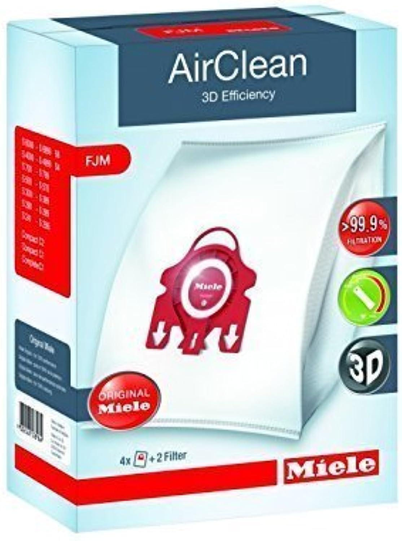 Miele Type F J M AirClean FilterBags, 4 Box