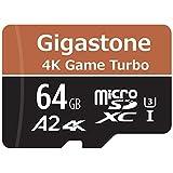 【5年保証】Gigastone Micro SD Card 64GB マイクロSDカード UHS-I U3 Class 10 95MB/S メモリーカード SD変換アダプタ付 ミニ収納ケース付 w/adapter and case 4K Ultra HD